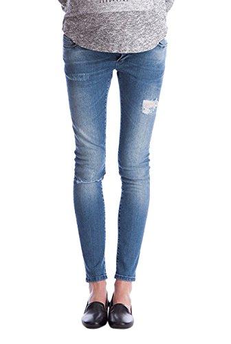 Seraphine セラフィン マタニティパンツ Gerie オーバーバンプリップスキニーマタニティージーンズ イギリスサイズ16 ブルー
