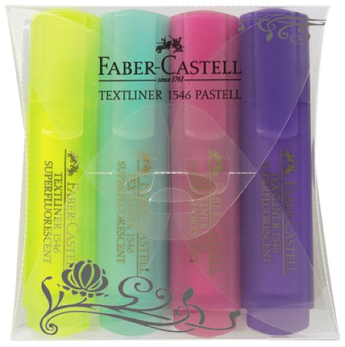 Faber-Castell Red-range テキストライナー 1546 パステルカラー4本パック
