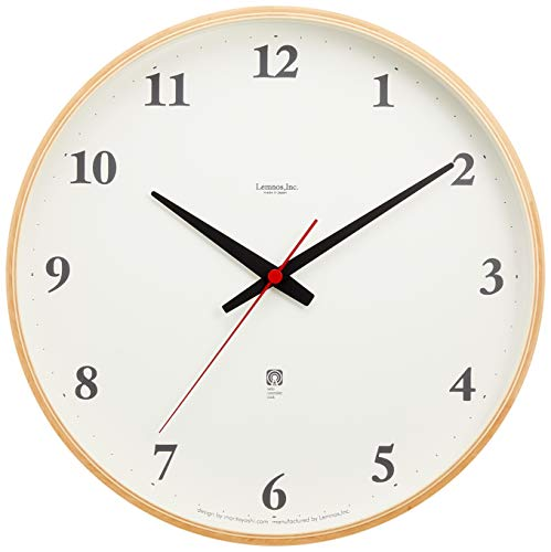 Lemnos Plywood clock 電波時計 ナチュラル LC05-01W NT[un]