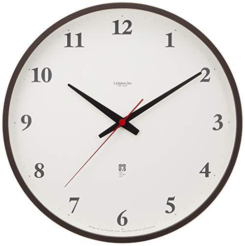 Lemnos Plywood clock 電波時計 ブラウン LC05-01W BW[un]