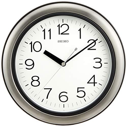 セイコー クロック 掛け時計 アナログ 生活防水 強化防湿 防塵型 キッチン&バス 金属枠 KS463S SEIKO[un]