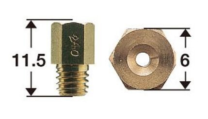 品質保証 5☆好評 SHIFT UP シフトアップ メインジェットSET キャブレターセッティング 6サイズ 800003-MA 6×11.5 MIKUNI六角大
