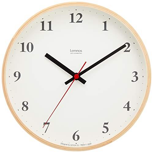 Lemnos Plywood clock 電波時計 ナチュラル LC10-21W NT[un]