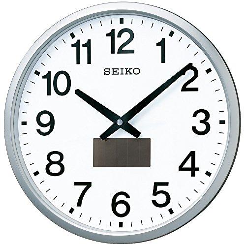 セイコー クロック 掛け時計 ハイブリッドソーラー 電波 アナログ 銀色 メタリック SF242S SEIKO[un]