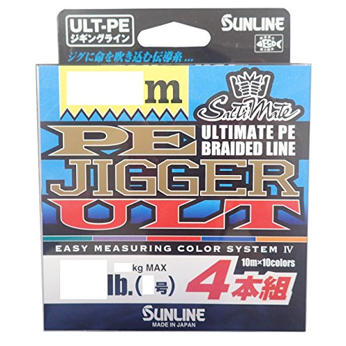 サンライン(SUNLINE) PEライン ソルティメイト ジガー ULT 4本組 600m 0.6号 10lb[un]