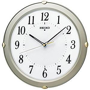 セイコー クロック 掛け時計 電波 アナログ 薄金色 パール KX211S SEIKO[un]