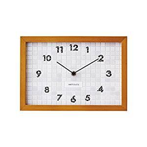 インターフォルム 掛け時計 ホワイト 幅28.5×高さ20×奥行3.5cm CL-1381WH[un]