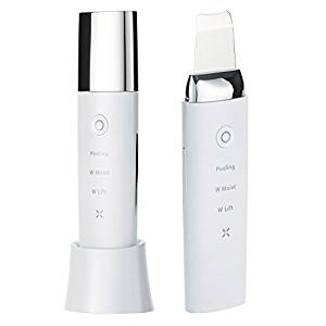 美顔器 COSBEAUTY アクリアルピーリングプロ Aqurial Peeling Pro CB-018 多機能 超音波 防水仕様 1年保証 コスビューティー (ホワイト)[un]