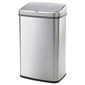 WY LIVING S 自動センサー式ゴミ箱 50リットル ステンレス製 ふた付き 電池式 WY-HM007[un]
