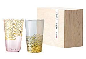 東洋佐々木ガラス グラス 江戸硝子 金玻璃 冷酒杯揃え 日本製 100ml G641-T82 2個入[un]