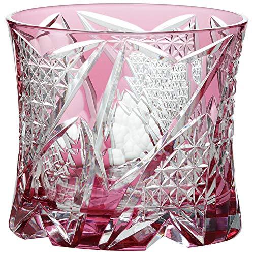 東洋佐々木ガラス ロックグラス レッド 270ml 八千代切子 (光華) 日本製 LS19761SAU-C741[un]