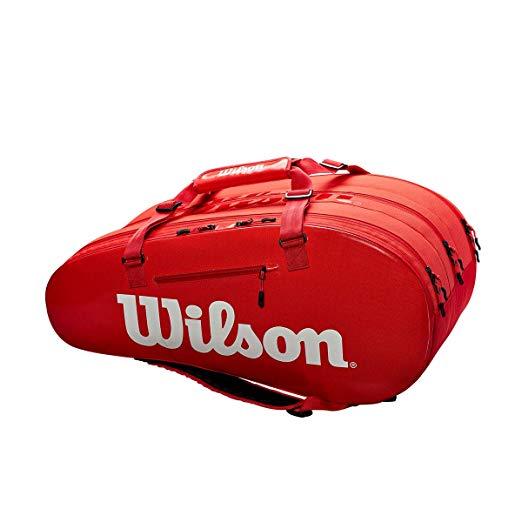 Wilson(ウイルソン) テニス バッグ バドミントン ラケットバッグ SUPER TOUR 3 COMP(スーパーツアー3 コンプ) ラケット15本収納可能[un]