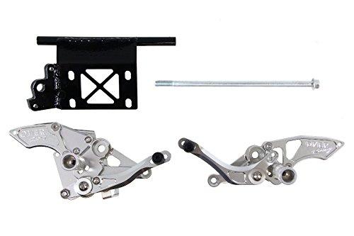 新しい季節 オーヴァーレーシング(OVER RACING) バックステップ 3POSITION シルバー MONKEY Z50J [モンキー] ドラムブレーキ用 51-01-51, ダテシ b407649f