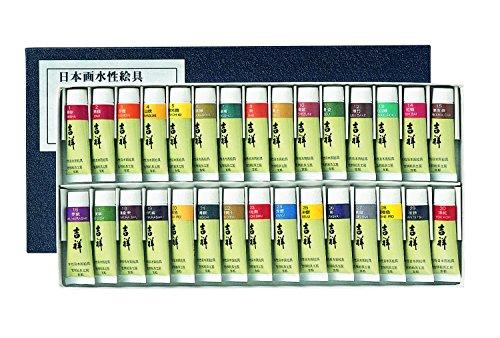 吉祥 今季も再入荷 日本画用絵具 チューブ絵具 人気ブランド 30色セットNo.1