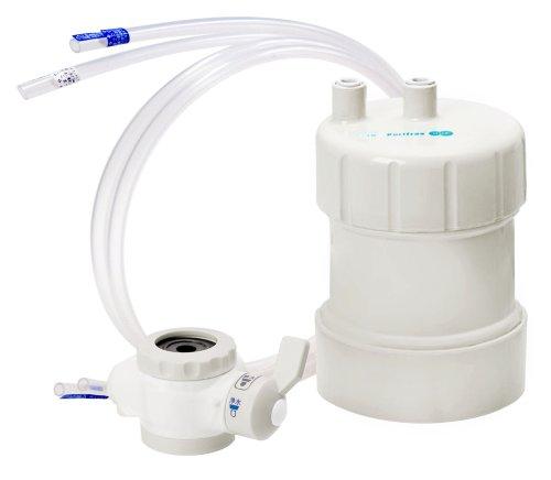 【13物質除去で2年使える!!】浄水器 ピュリフリー ホワイト PF-W4