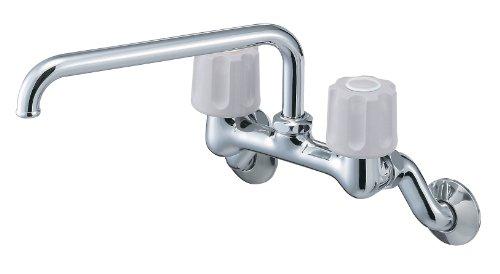 三栄水栓 【キッチン用混合栓(寒冷地仕様)】 ツーバルブ混合栓 上向きタイプ(寒冷地仕様) K211K-LH