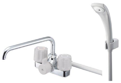 三栄水栓 【バス用混合栓】 ツーバルブデッキシャワー混合栓 SK71-LH-13
