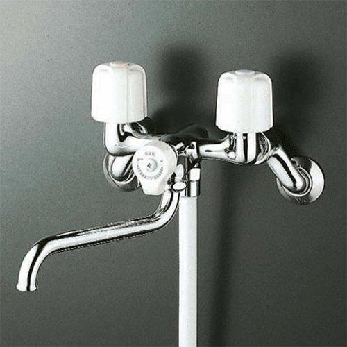 KVK 一時止水付2ハンドルシャワー混合水栓 寒冷地用 KF100N2W