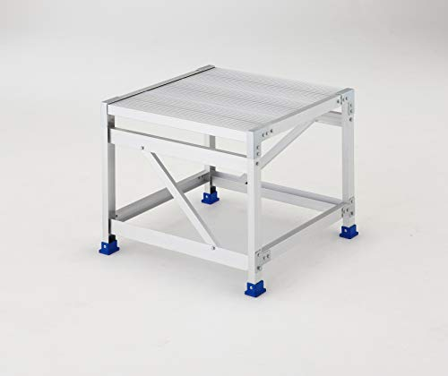 【大放出セール】 ライトステップ 1段 アルミ階段式作業台 DB2.0-1 (組立式) (16815)[un]:ユニオン 長谷川工業(Hasegawa)-DIY・工具