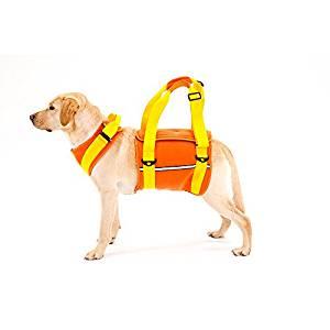With(ウィズ) 歩行補助ハーネス LaLaWalk 大型犬用 ネオプレーンオレンジ L サイズ[un]