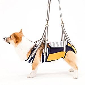 With(ウィズ) 歩行補助ハーネス LaLaWalk 中型犬・コーギー用 ボーダーマスタード CLサイズ[un]