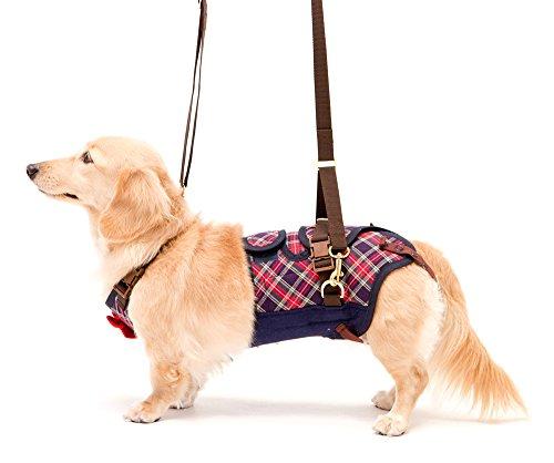 With(ウィズ) 歩行補助ハーネス LaLaWalk 小型犬・ダックス用 サポーターパッド付 チェックカーニバル M サイズ[un]