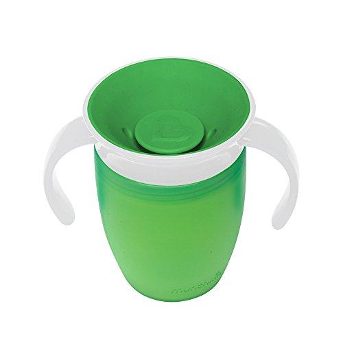 マンチキン munchkin ベビー用 マグ こぼれない ハンドル ふた 期間限定今なら送料無料 付き コップ 公式 196ml un 6カ月から FDMU10801 ミラクルカップ 上手に飲める グリーン 練習