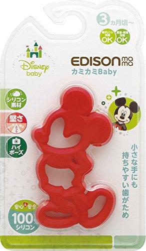 KJC 記念日 エジソンママ EDISONmama 歯がため ミッキーマウス un ☆最安値に挑戦 カミカミBaby 3ヶ月頃から対象