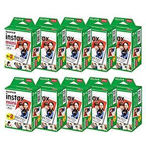 富士フィルム チェキフィルム instax mini 2パック品 JP2(20枚入り)×10個セット [200枚入][un]