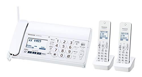 パナソニック おたっくす デジタルコードレスFAX 子機2台付き 1.9GHz DECT準拠方式 ホワイト KX-PZ210DW-W[un]