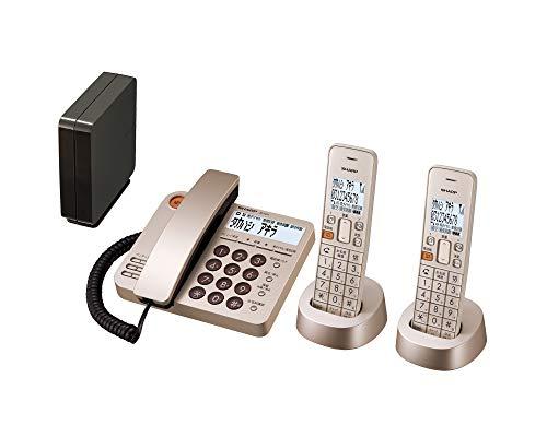 シャープ デジタルコードレス電話機 デザインモデル 子機2台付き 1.9GHz DECT準拠方式 ゴールド系 JD-XG1CW-N[un]