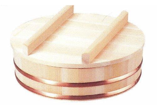 小柳産業 国産 すし飯台蓋付(木曽さわら材) 直径42cm(約1.5升) 60017