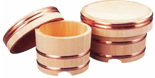 小柳産業 国産 江戸びつ(木曽さわら材) 直径27cm(約1升) 60022