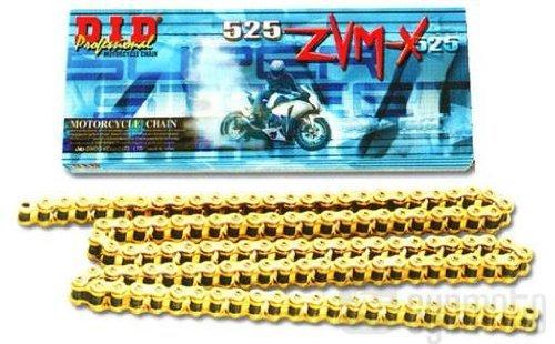 D.I.D(大同工業)バイク用チェーン カシメジョイント付属 525ZVM-X-110ZB STEEL(スチール) X-リング 二輪 オートバイ用
