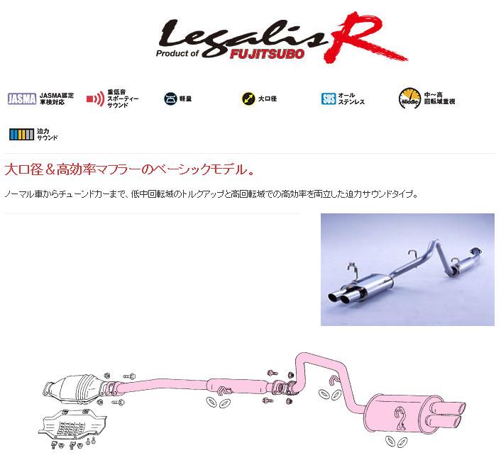 [フジツボ]AE86 スプリンタートレノ(Wテール/迫力サウンド)用マフラー(レガリスR)