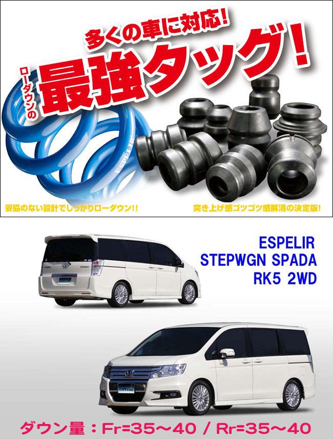 [ESPELIR]RK5 ステップワゴン スパーダ(2WD/2.0L)用スーパーダウンサス+バンプラバー