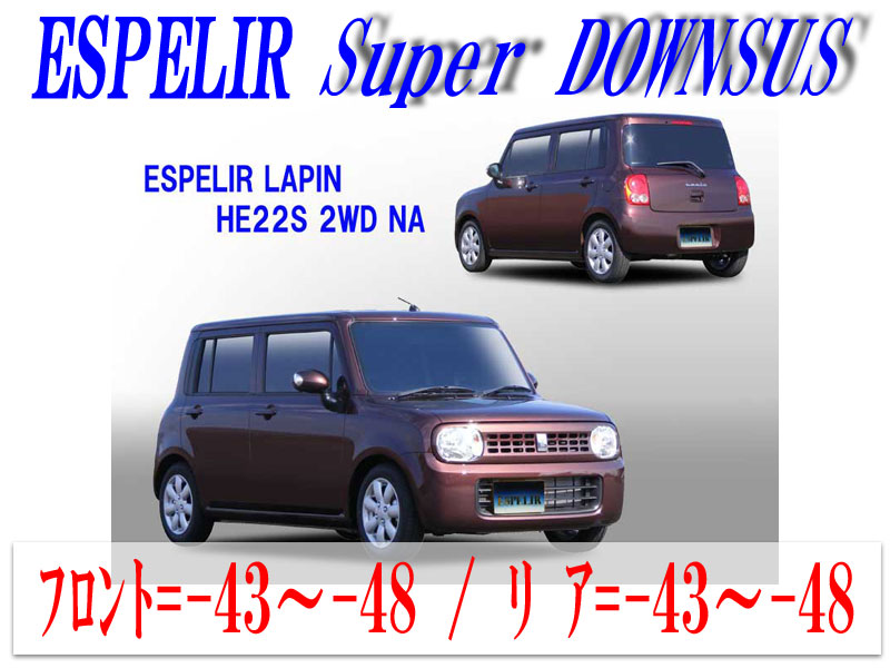 【エスぺリア】[ESPELIR]HE22S アルトラパン(2WD/NA)用スーパーダウンサス