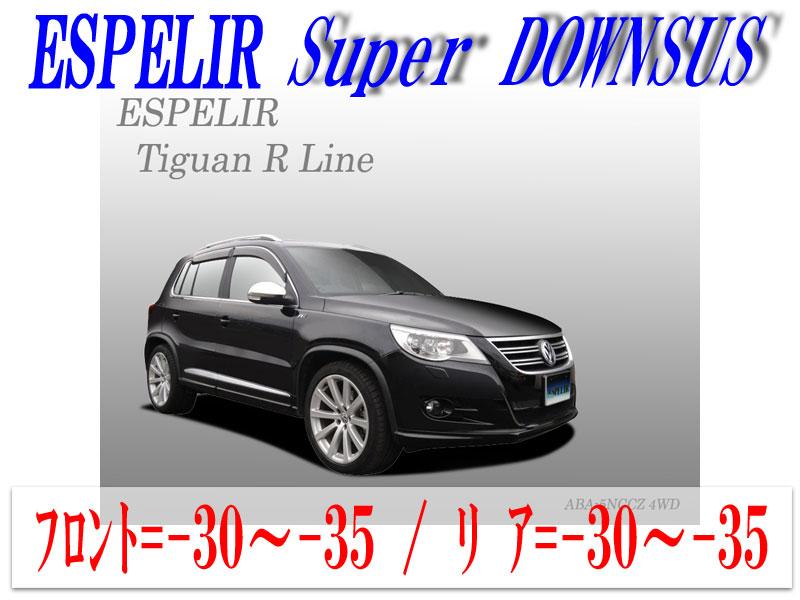 [ESPELIR]5NCCZ フォルクスワーゲン ティグアン(4WD 2000 ターボ_Rライン)用スーパーダウンサス