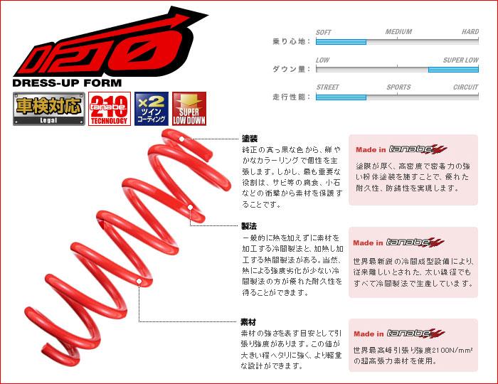 ML21S ルークス_2WD 用タナベ_ダウンサス <車検対応> [tanabe_DF210] (H21/12〜H25/03)