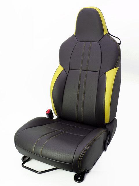 [G'BASE]JW5 S660用デザインシートカバー(ブラック×イエロー)