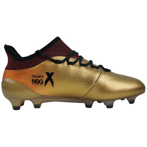 タクティルゴールドメランジF17×コアブラック×ソーラーレッド (BB6353) AG 【アディダス/adidas】 アディダス エックス 17.1 FG/ サッカースパイク