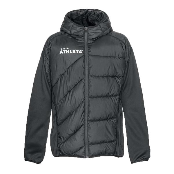 アスレタ athleta 中綿 ウォームアップジャケット ブラック 04126