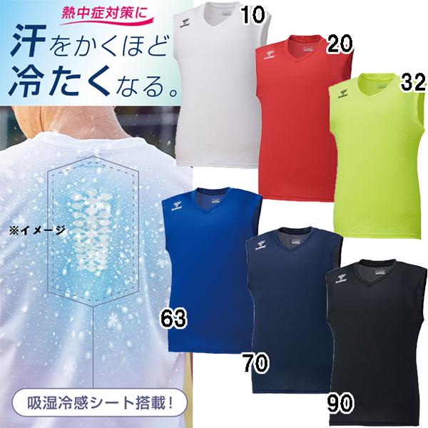 2021年春夏 サッカーインナー サッカー メンズ インナーシャツ ノースリーブ PLUS つめたインナー ヒュンメル インナー 安心の実績 高価 買取 強化中 hap5028 hummel 期間限定特価品
