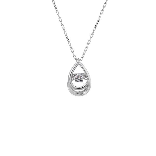 話題のDancing Stoneダイヤネックレス 驚きの価格が実現 ダンシングストーンペンダント ネックレス おすすめ K18WG FTW-2147_18WG 天然ダイヤモンド0.03ct