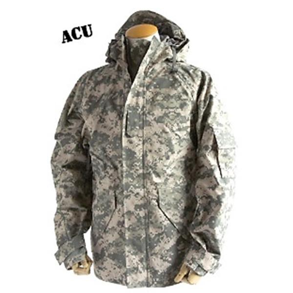 アメリカ軍 ECWC S-1ジャケット/ゴアテックス風パーカー 【 Sサイズ 】 透湿防水素材 JP041YN ACU カモ( 迷彩) 【 レプリカ 】
