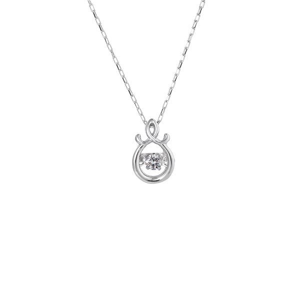 話題のDancing Stoneダイヤネックレス ダンシングストーンペンダント 市販 ネックレス チープ FTW-2137_Pt プラチナPt900 天然ダイヤモンド0.03ct