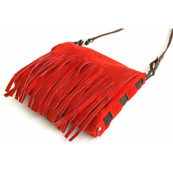 ★dean(ディーン)fringebagショルダーバッグ斜めがけバッグ赤
