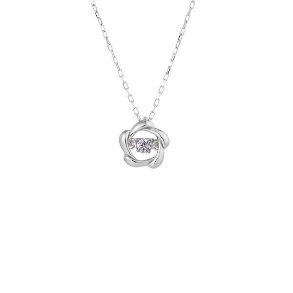 話題のDancing Stoneダイヤネックレス 倉庫 全店販売中 ダンシングストーンペンダント ネックレス 天然ダイヤモンド0.03ct FTW-2142_18WG K18WG