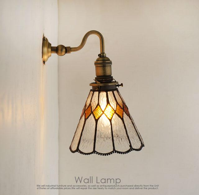 ブラケットライト壁掛けステンドグラスランプSS2/インダストリアル LED対応 インテリア照明 壁付照明 壁掛け照明 照明 カフェ 北欧 壁 ライト リビング カフェ照明 ナチュラル 玄関 アンティーク バー 洗面所 シャビー ランプ ブルックリン おしゃれ