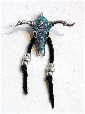 Garden of Eden 訳あり PENDANT 受注 ターコイズブルホーンヘッドペンダント ED-GM16-T13 TURQUOISE HORN HEAD Pendant Necklace Indian jewelry 配送員設置送料無料 BULL